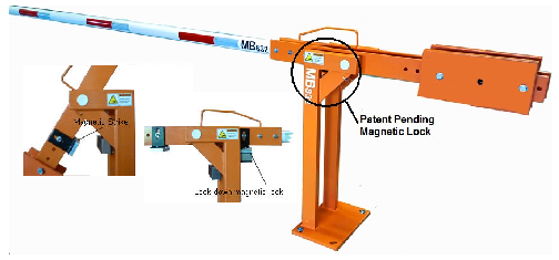 MB832 semi-automatic operated boom barrier arm gate