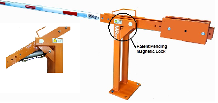 pneumatic operated boom barrier gate